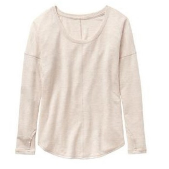 Athleta Sweaters - Athleta Creme Scoop Neck Sweater